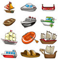 Cartoon boat icon Stock Image