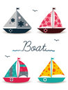 Cartoon boats Royalty Free Stock Photos