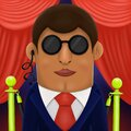 Cartoon bodyguard in classic costume, illustration Royalty Free Stock Photo