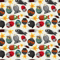 Cartoon bomb seamless pattern Stock Photography