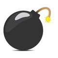 Cartoon bomb with shadow an illustration of a a underneath Royalty Free Stock Photography