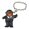 Cartoon boss shouting orders Royalty Free Stock Image