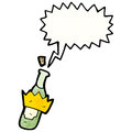 Cartoon bottle popping cork Royalty Free Stock Photo