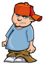 Cartoon of boy with baggy pants Royalty Free Stock Photography