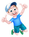 Cartoon Boy Giving Thumbs Up Royalty Free Stock Photo