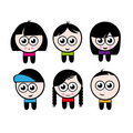 Cartoon boys and girls characters Stock Photography