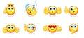Cartoon Bright Emoticons Collection