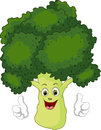 Cartoon broccoli giving thumbs up Royalty Free Stock Photo