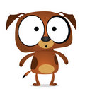 Cartoon brown dog Stock Photos