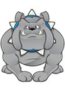 Cartoon bulldog a illustration of a save as eps Stock Photography
