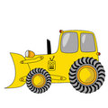 Cartoon bulldozer Royalty Free Stock Photo
