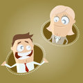 Cartoon business man and woman funny illustration of Stock Photography
