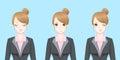 Cartoon business woman feel confident