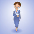 Cartoon business woman vector illustration Stock Images