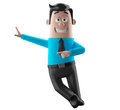 Cartoon businessman 3D office man in suit and tie Royalty Free Stock Photo