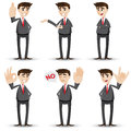 Cartoon businessman with hand sign