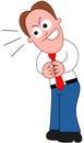 Cartoon Businessman Sneaky. Royalty Free Stock Photo