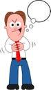 Cartoon Businessman Sneaky Royalty Free Stock Photo