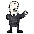 Cartoon businessman in suit Royalty Free Stock Image