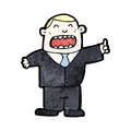 Cartoon businessman in suit Royalty Free Stock Photo
