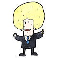 Cartoon businessman in suit Stock Photo