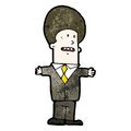 Cartoon businessman in suit Royalty Free Stock Photos
