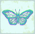 Cartoon butterfly illustration, vector icon Royalty Free Stock Photo