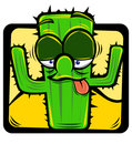 Cartoon cactus Royalty Free Stock Photography