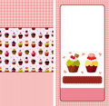 Cartoon cake card Stock Images