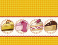Cartoon cake card Royalty Free Stock Photos