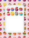 Cartoon cake card Royalty Free Stock Photo