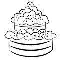 Cartoon cake eps on a white background Stock Photography