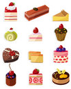 Cartoon cake icon Royalty Free Stock Photos