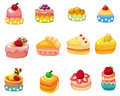 Cartoon cake icon Stock Photo