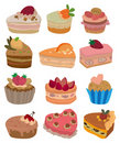 Cartoon cake icon Royalty Free Stock Image