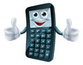 Cartoon calculator man an illustration of a happy giving a thumbs up Stock Photography