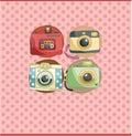 Cartoon camera card Royalty Free Stock Photo