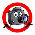 Cartoon camera mascot Royalty Free Stock Photo
