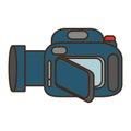 Cartoon camera video icon design Royalty Free Stock Photo