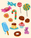 Cartoon candy icon Stock Photo