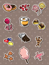Cartoon candy stickers Royalty Free Stock Photos