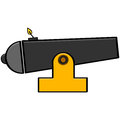 Cartoon cannon Royalty Free Stock Photo