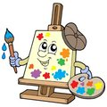 Cartoon canvas artist Royalty Free Stock Photography