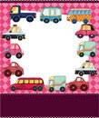 Cartoon car card Stock Images