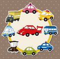 Cartoon car card Royalty Free Stock Photography