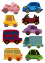 Cartoon car icon Royalty Free Stock Images