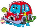 Cartoon car wash Stock Photography