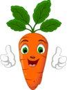 Cartoon Happy Carrot Character Running