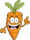 Cartoon carrot with an idea illustration of a Stock Images
