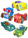 Cartoon cars Royalty Free Stock Image